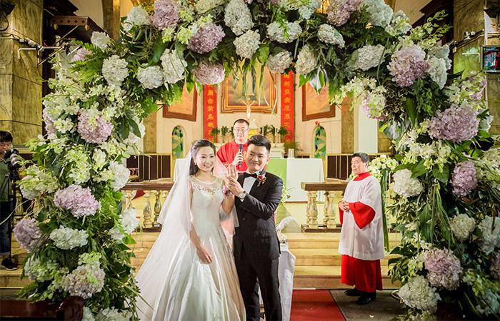 南京教堂婚礼案例五